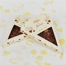 munchy biscuit sri lanka personalised chocolate pizza slice wedding favours x 25 by the