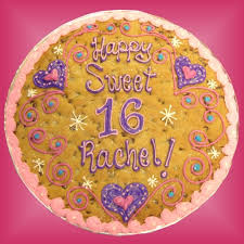 birthday cookie cake sc 04 sweet 16th cookie cake buy now birthday gifts birthday