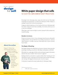 white paper report template white paper design tips that sell