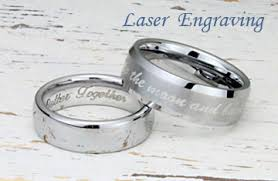 can titanium rings be engraved tungsten rings wedding bands titanium