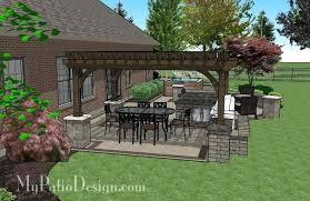 Large Brick Patio Design With 12 X 16 Cedar Pergola Outdoor by Tub Pergola U2013 Seoandcompany Co