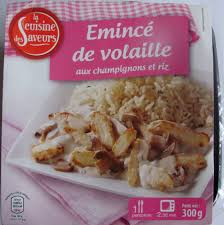produit cuisine emincé de volaille aux chignons et riz la cuisine des saveurs