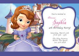 Card Factory Party Invitations Sofia The First Birthday Party Invitations U2013 Gangcraft Net