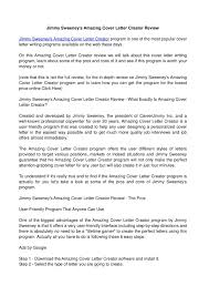 amazing cover letter example exclusive idea jimmy sweeney cover letter 7 example for customer