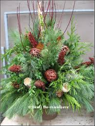 winter planter container designs winter planter christmas urns