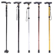 Blind People Stick Adjustable Folding Support Cane Ft Blind 3740in A Group Of People