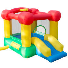 inflatable castle bounce house with slide and hoop m420004 the