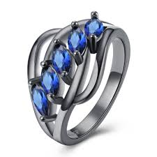 blue crystal rings images Blue crystal rings for women hollowing blue stone ring court style jpg