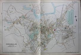 Map Of Northampton Ma Dedham Ma Plate 11 Antique Maps And Charts U2013 Original Vintage