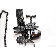 black jewelry necklace images Jewelry new black dragonfly multi pendant long necklace poshmark jpg