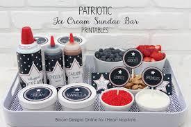 sundae bar toppings patriotic sundae bar printables i heart nap time