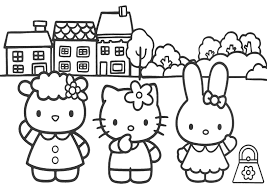rosace coloriage hello kitty