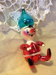 clown christmas ornament glass ornaments made in west germany