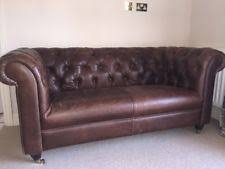 chesterfield sofa leather leather chesterfield sofa ebay