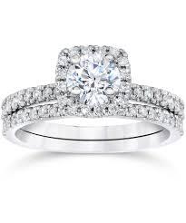 ring set pompeii3 5 8 carat cushion halo diamond engagement wedding ring