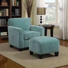 Accent Chair And Ottoman Set Accent Chairs Chairs Living Room Gorgeous Blue Accent Chair With