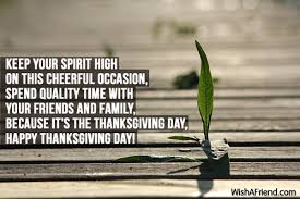 keep your spirit high on this thanksgiving message