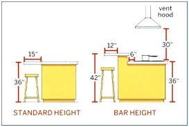 standard kitchen island dimensions standard bar height standard bar height kitchen island bar height