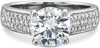 precision set rings precision set three row pave diamond engagement ring 7843