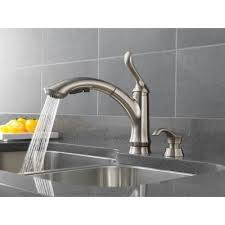 delta linden kitchen faucet delta foundations side sprayer kitchen faucet in stainless79 no