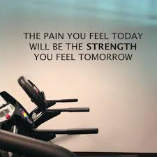home gym wall decor free shipping home gym wall decals the pain you feel today is the