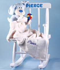 personalize baby gifts baby girl gift personalized rocking chair by silly phillie