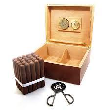combo cubano cigar humidor with cigars gift set cigar boulevard