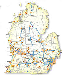 Map Of Michigan And Canada by Map Of Michigan Roads Michigan Map