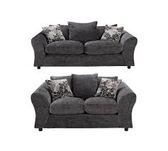 buy home new clara 3 seater and compact 2 seat sofa charcoal at
