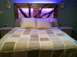 Headboard Made From Pallets Recycled Pallet Headboard With Lights Recycled Things
