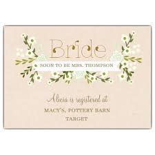 vintage floral bridal shower information cards paperstyle