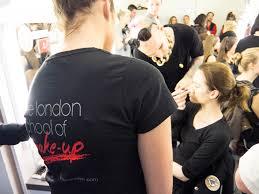 london makeup school lfw with palmer harding london school of makeup