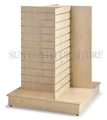 wood display china modern retail shop display stand slatwall wood display
