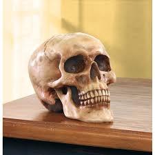 grinning human skull figurine wholesale at koehler home decor