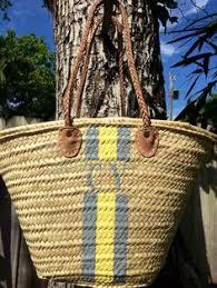 personalized basket blue stripes personalized market basket custom monogrammed