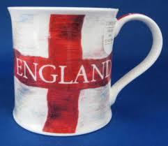 White Cross On Red Flag Cross Of St George Mug Dunoon England Flag Red And White English