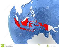 Indonesia On World Map Indonesia On Globe Stock Illustration Image 88080186