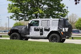 2018 jeep wrangler redesign 2018 jeep wrangler interior spied for first time autoguide com news