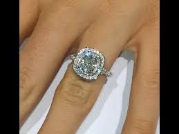 halo cushion cut engagement ring 2 ct cushion cut engagement ring in halo