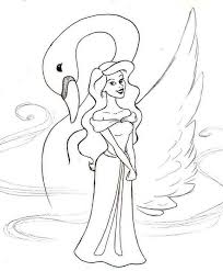 image swan princess coloring pages creativemove