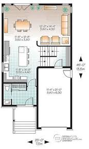 narrow house plans with garage house plan w3877 detail from drummondhouseplans com