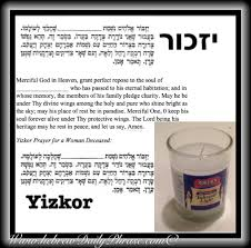 yizkor prayer in memorial prayer yizkor יזכור hebrew daily phrase