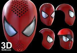 3d printable model amazing spider man 2 mask face shell