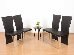 Sell Old Furniture Online Bangalore Guillem Leather Dining Chair Set Of 4 Buy And Sell Used