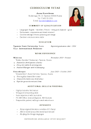 Jobs Resume Pdf by How To Write Your Cv In English
