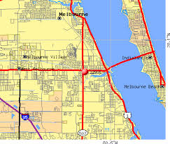 melbourne fl map zip code map melbourne fl zip code map
