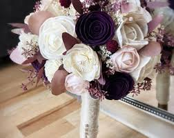 plum wedding wisteria and plum bouquet alternative bouquet wedding