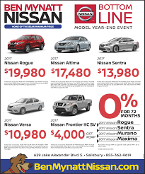 nissan finance used cars new u0026 used nissan vehicle specials sales to salisbury winston