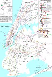New York City Attractions Map by Www Nycsubway Org New York City Subway Route Map By Spui