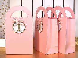 gold favor bags favor bags gold and pink birthday pink mint